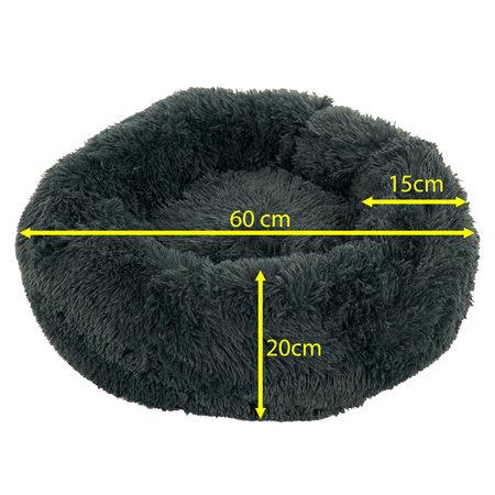 Sajan Sajan Hondenmand 60cm - Donut - Superzacht - Wasbaar - Grijs