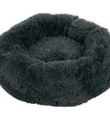Sajan Sajan Hundebett 80cm - Donut - Super Soft - Waschbar - Grau