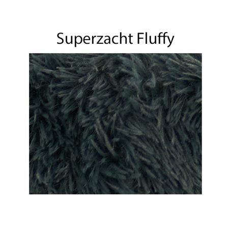 Sajan Sajan Hundebett 100cm - Donut - Super Soft - Waschbar - Grau