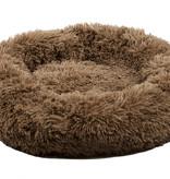 Sajan Sajan Hundebett 50cm - Donut - Super Soft - Waschbar - Braun