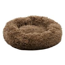 Sajan Hundebett 60cm - Donut - Super Soft - Waschbar - Braun