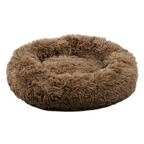 Sajan Hundebett 70cm - Donut - Super Soft - Waschbar - Braun