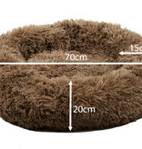 Sajan Sajan Hundebett 70cm - Donut - Super Soft - Waschbar - Braun