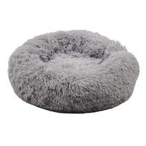 Sajan Hundebett 50cm - Donut - Super Soft - Waschbar - Hellgrau