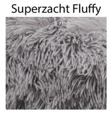 Sajan Sajan Hundebett 60cm - Donut - Super Soft - Waschbar - Hellgrau