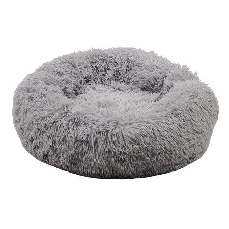 Sajan Sajan Hundebett 80cm - Donut - Super Soft - Waschbar - Hellgrau