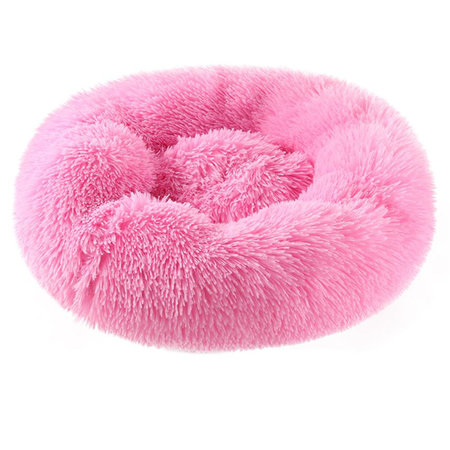 Sajan Sajan Hundebett 50cm - Donut - Super Soft - Waschbar - Rosa