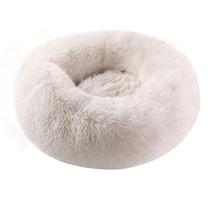 Sajan Hundebett 50cm - Donut - Super Soft - Waschbar - Weiß