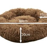 Sajan Sajan Hundebett 80cm - Donut - Super Soft - Waschbar - Braun