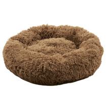 Sajan Hundebett 100cm - Donut - Super Soft - Waschbar - Braun