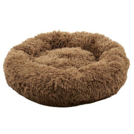 Sajan Sajan Hundebett 100cm - Donut - Super Soft - Waschbar - Braun