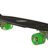 Sajan Sajan Skateboard - LED Wielen - 22.5 inch - Zwart-Groen