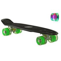 Sajan Skateboard - LED Rollen - 22,5 Zoll - Schwarz-Grün