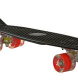 2Cycle 2Cycle Skateboard - LED Wielen - 22.5 inch - Zwart-Rood