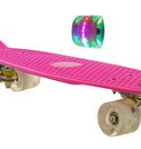 Sajan Sajan Skateboard - LED Wielen - 22.5 inch - Roze