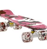Sajan Sajan Skateboard - LED Wielen - 22.5 inch - Camouflage Roze