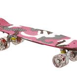 Sajan Sajan Skateboard - LED Räder - 22,5 Zoll -  Camouflage Rosa