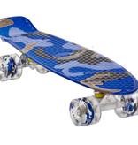 Sajan Sajan Skateboard - LED Räder - 22,5 Zoll -  Camouflage Blau