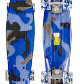 Sajan Sajan Skateboard - LED Wielen - 22.5 inch - Camouflage Blauw