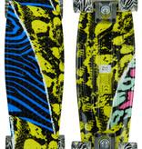 Sajan Sajan Skateboard - LED Rollen - 22,5 Zoll - Camouflage Blau-Gelb