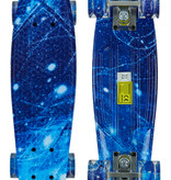 Sajan Sajan Skateboard - LED Räder - 22,5 Zoll -  Space Blau