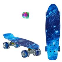 Sajan Skateboard - LED Wielen - 22.5 inch - Space Blauw