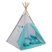 Sajan Tipi Speeltent - Met kussens - Turquoise