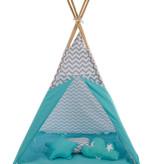 Sajan Sajan  Tipi Speeltent - Met kussens - Turquoise