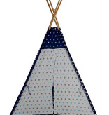 Sajan Sajan  Tipi Speeltent - Met kussens - Blauw-Wit