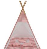 Sajan Sajan  Tipi Spielzelt - Mit Kissen - Rosa-Weiß