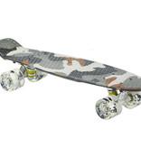 Sajan Sajan Skateboard - LED Räder - 22,5 Zoll -  Camouflage Grau