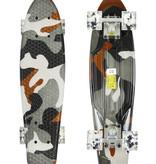 Sajan Sajan Skateboard - LED Wielen - 22.5 inch - Camouflage Grijs