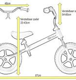 2Cycle 2Cycle Loopfiets - Mat-Roze