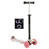 Sajan Kinderscooter - Dreiradscooter  - LED-Räder - Graffiti