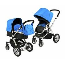 Kinderwagen Blauw met Luchtbanden