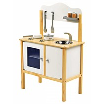 P&M  Basic Kinderkeuken - Hout - Wit