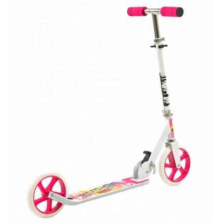 2Cycle Step Aluminium roze-wit Opvouwbaar Met Grote Wielen 20cm(1390)