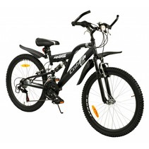 2Cycle Cobra MTB - 24 inch - 18-speed - Mat-Zwart
