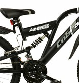 2Cycle Mountainbike 24 inch Cobra 18-speed Mat-Zwart (2414)