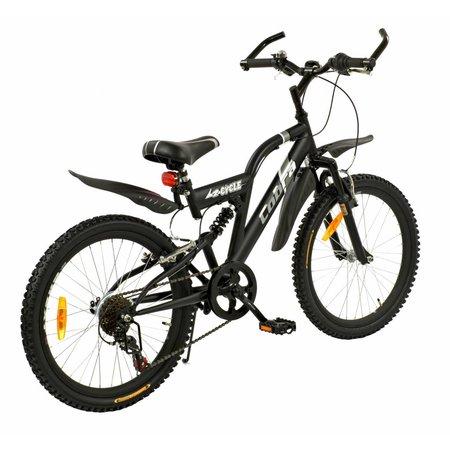 2Cycle Mountainbike 22 inch Cobra 6-speed Mat-Zwart (2214)