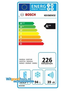 Bosch Bosch KGV36EW32