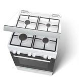 Bosch Bosch HGD425228N Serie | 2 Vrijstaand gas-elektrofornuis - WIT - Confectioneel