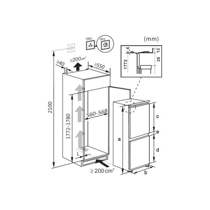 Hisense RIB312F4AW1  sleep deur systeem