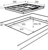 Inventum Inventum IKG6011RVS - inbouw gaskookplaat