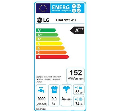 LG LG FH4J7VY1WD | 1400 toeren | 9 kg inhoud