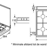 Siemens Kookplaat Gas Siemens EB0C2PY80N