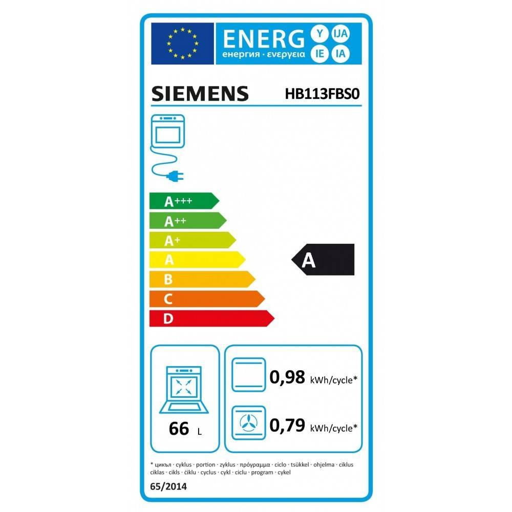 Siemens Oven Inbouw Siemens iQ100 HB113FBS0 | A Label