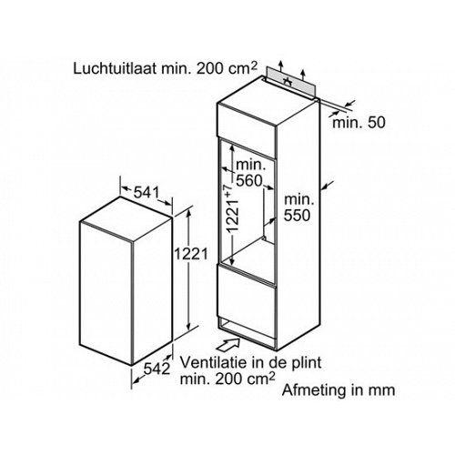 Bosch Bosch KIR24V51 Serie | 2 Integreerbare koelautomaat