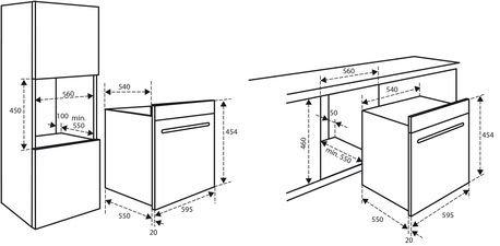 Inventum Inventum IMC6044GT Zwart inbouw magnetron (combi)
