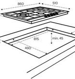 Inventum Inventum IKG9023WGRVS (90 cm) - inbouw gaskookplaat